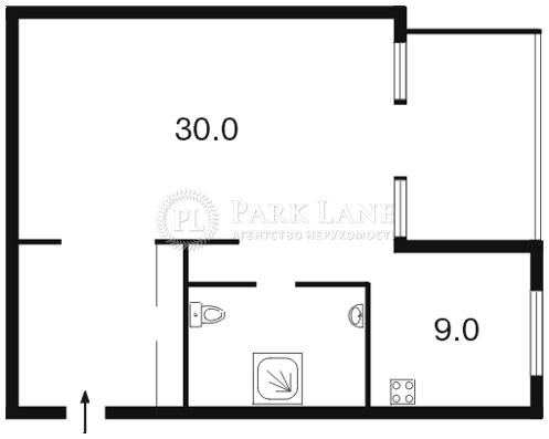Квартира ул. Гончара Олеся, 90/92, Киев, Z-670068 - Фото 2