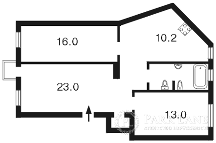 Квартира ул. Грушевского Михаила, 9, Киев, Z-1108568 - Фото 2