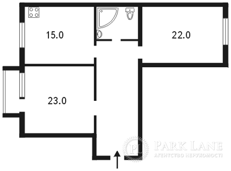 Квартира ул. Грушевского Михаила, 34а, Киев, Z-740396 - Фото 2