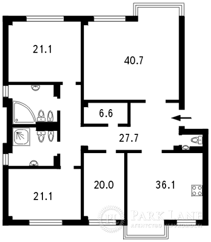 Квартира ул. Институтская, 18б, Киев, B-80314 - Фото 2