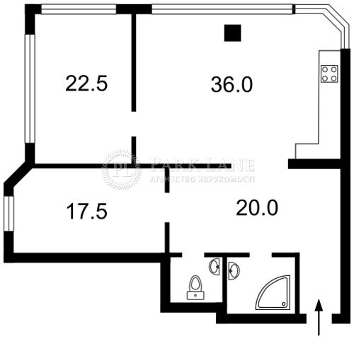 Квартира ул. Гетьмана Вадима (Индустриальная), 1в, Киев, Z-932171 - Фото 2