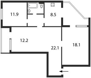 Квартира K-13413, Ушакова Николая, 16, Киев - Фото 4
