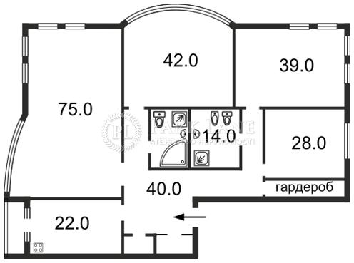 Квартира ул. Тургеневская, 28а-30а, Киев, C-84214 - Фото 2