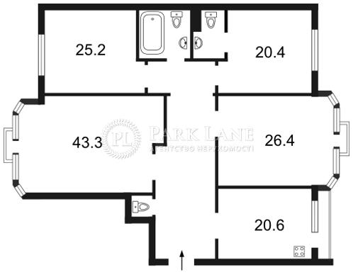Квартира вул. Коновальця Євгена (Щорса), 32а, Київ, F-27157 - Фото 2