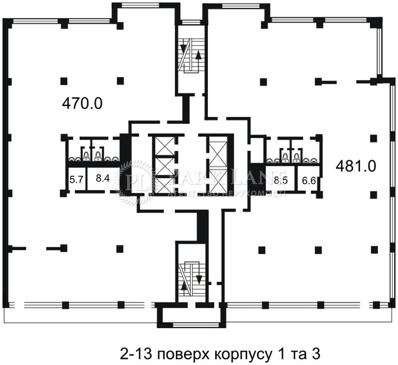Офис, Гавела Вацлава бульв. (Лепсе Ивана), Киев, Z-977044 - Фото 2