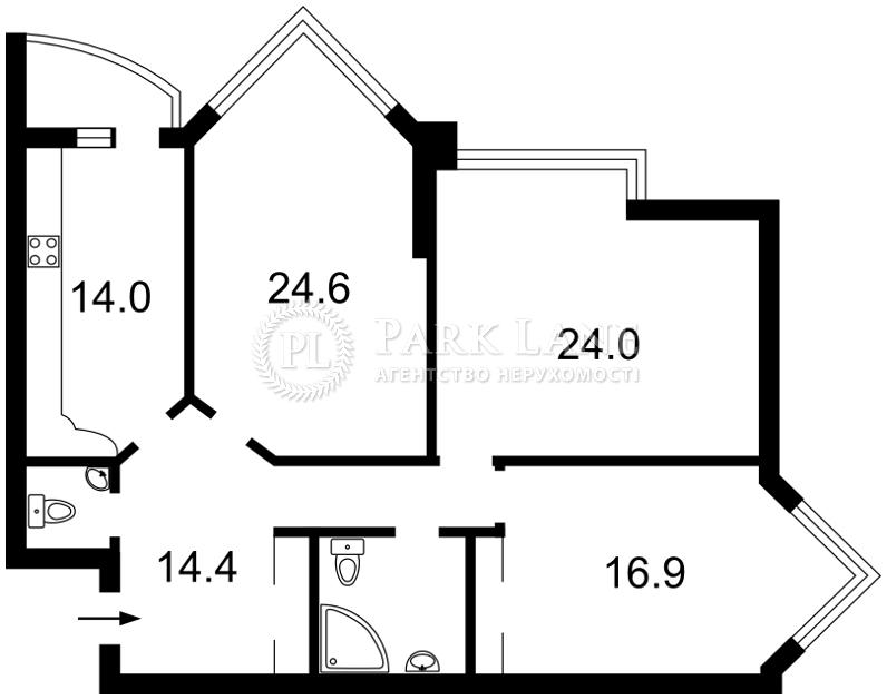Квартира ул. Бульварно-Кудрявская (Воровского) , 11а, Киев, J-16956 - Фото 2