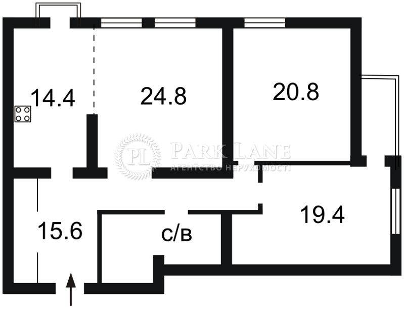 Квартира Голосеевский проспект (40-летия Октября просп.), 27, Киев, F-27793 - Фото 2