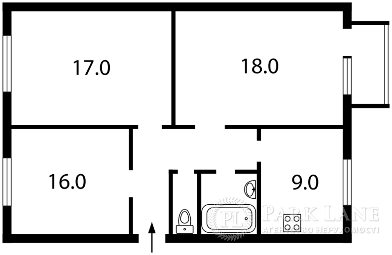 Квартира ул. Рогозовская, 1, Киев, Z-1062954 - Фото 2