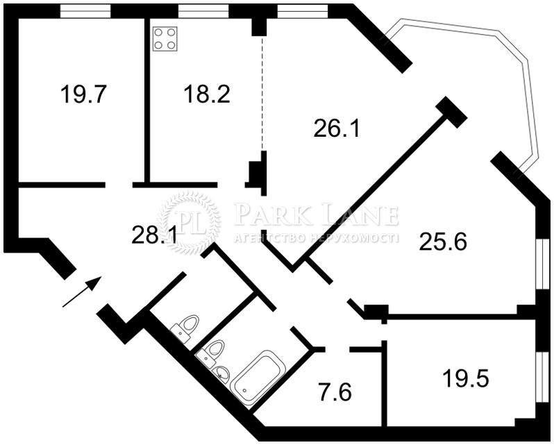 Квартира ул. Окипной Раиcы, 4а, Киев, H-17339 - Фото 2