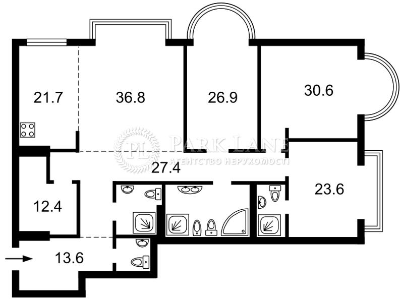 Квартира ул. Институтская, 18а, Киев, M-21006 - Фото 2