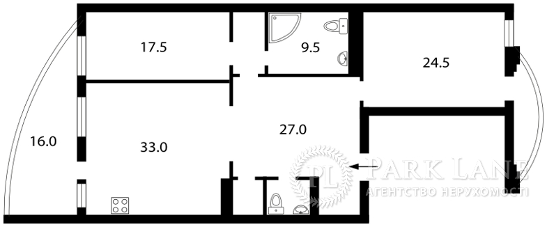 Квартира ул. Тургеневская, 46/11, Киев, K-16055 - Фото 2