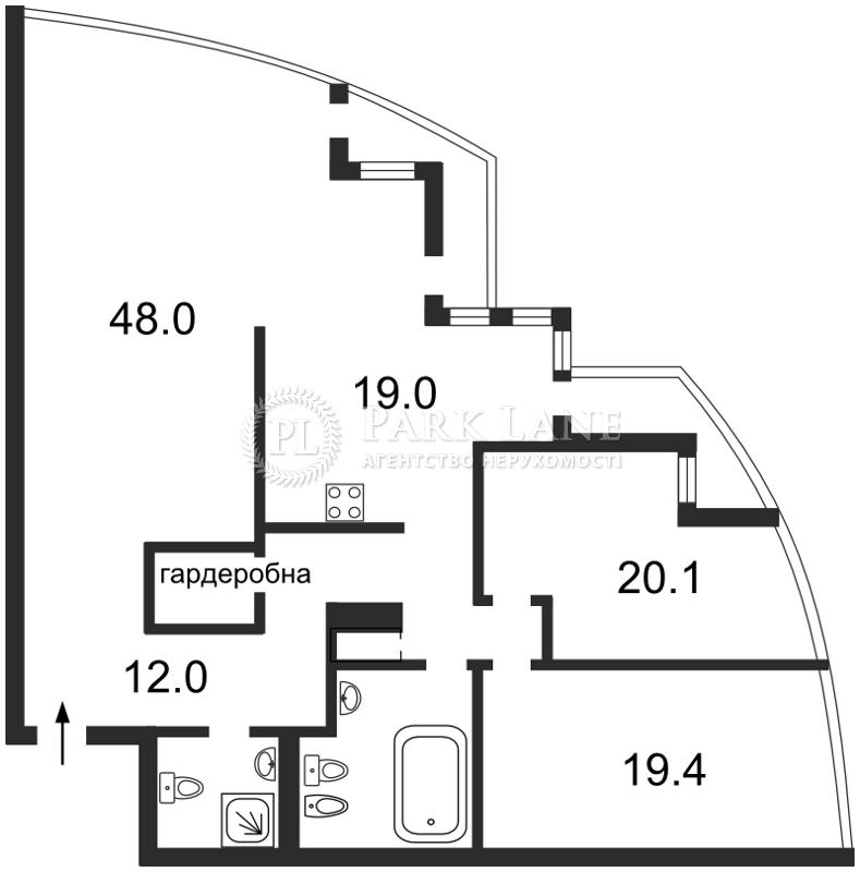 Квартира ул. Хмельницкого Богдана, 41, Киев, Z-1263135 - Фото 2