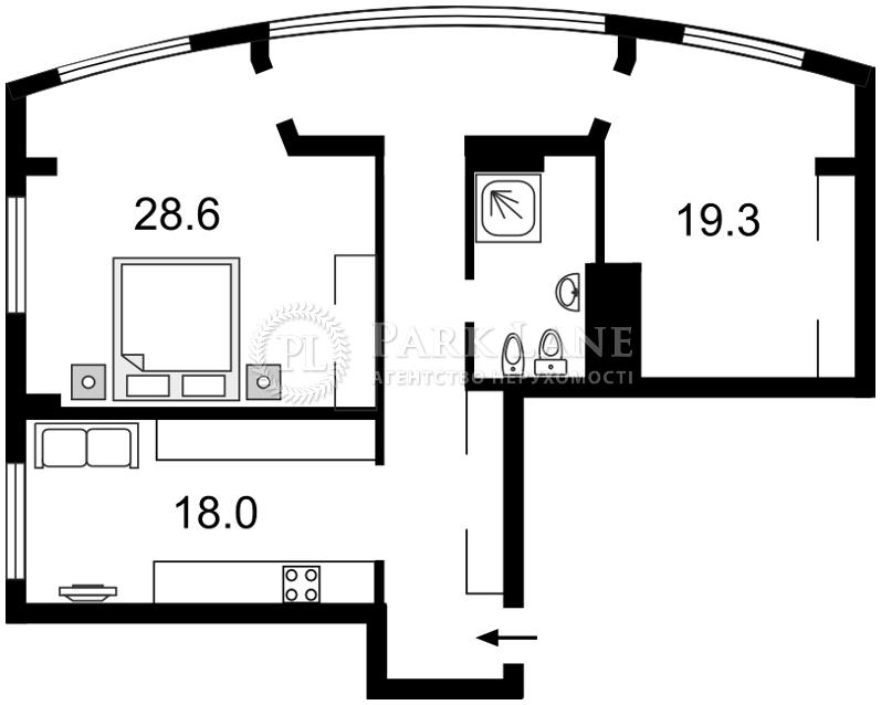 Квартира вул. Антоновича (Горького), 72, Київ, C-91443 - Фото 2