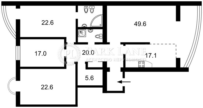 Квартира ул. Тургеневская, 45/49, Киев, F-4477 - Фото 2