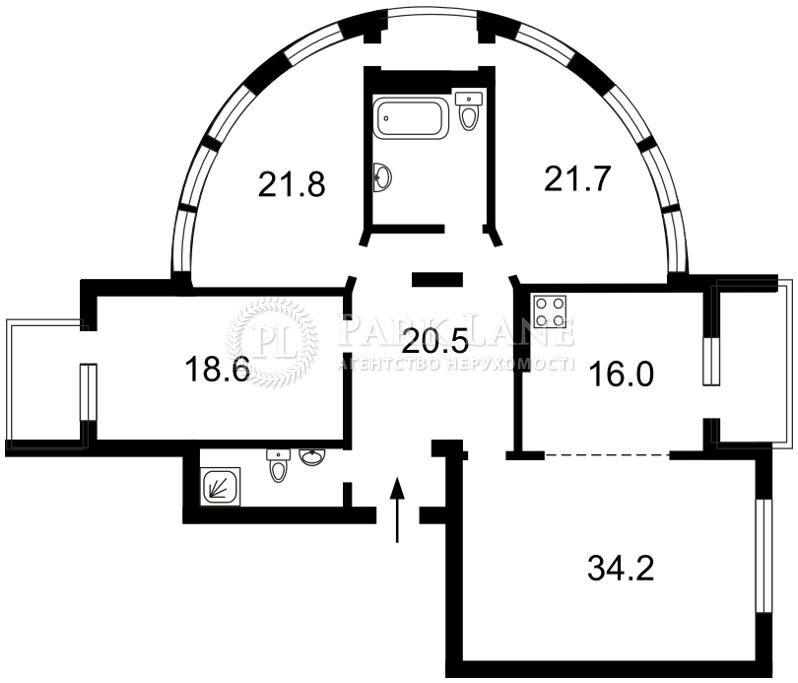 Квартира Лесі Українки бул., 23а, Київ, Z-1276999 - Фото 2