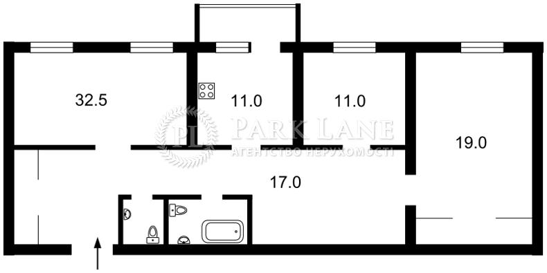 Квартира ул. Коновальца Евгения (Щорса), 32б, Киев, E-13012 - Фото 2