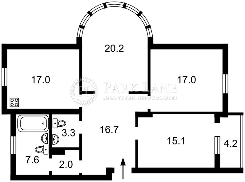 Квартира ул. Дмитриевская, 69, Киев, Z-1338123 - Фото 2