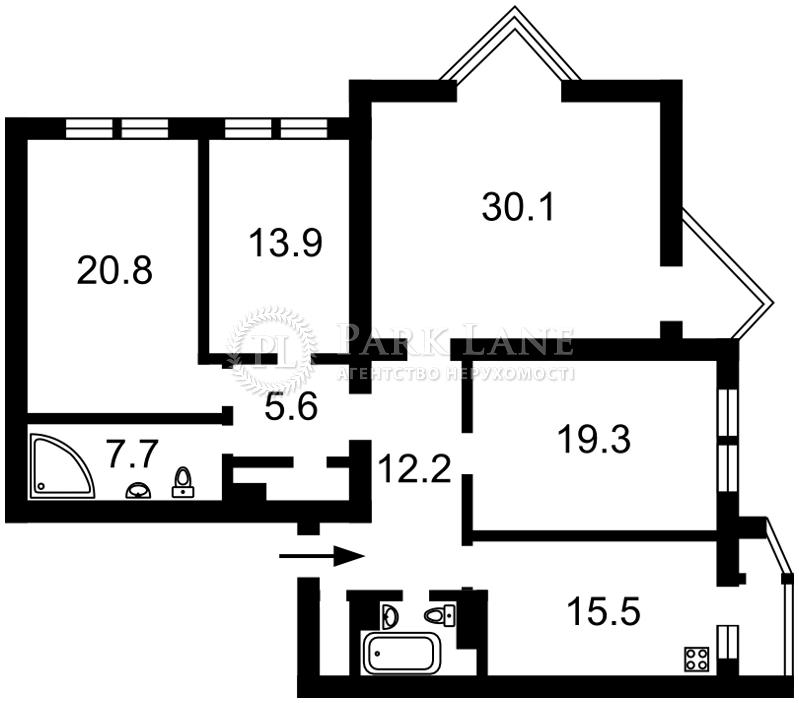 Квартира ул. Нестайко Всеволода (Мильчакова А.), 6, Киев, Z-1359860 - Фото 2