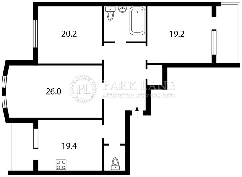 Квартира ул. Голосеевская, 13, Киев, J-12041 - Фото 2