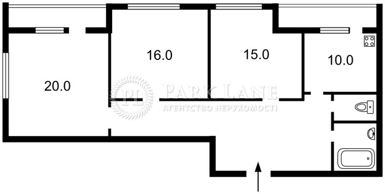 Квартира ул. Довженко, 14/1, Киев, C-56171 - Фото 2