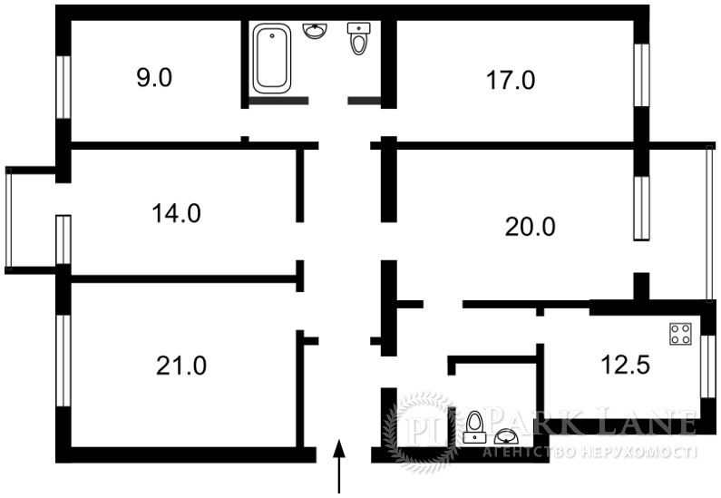 Квартира ул. Мазепы Ивана (Январского Восстания), 18/29, Киев, F-13642 - Фото 2