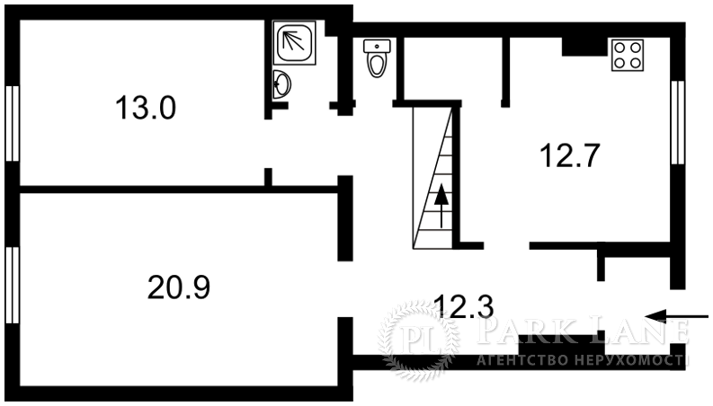Квартира ул. Пушкина, 16б, Гостомель, Q-313 - Фото 2