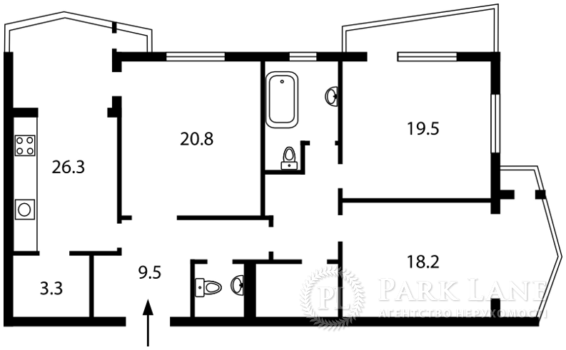Квартира ул. Сечевых Стрельцов (Артема), 52а, Киев, O-14484 - Фото 2