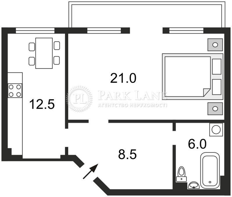 Квартира ул. Большая Житомирская, 6, Киев, C-75761 - Фото 2