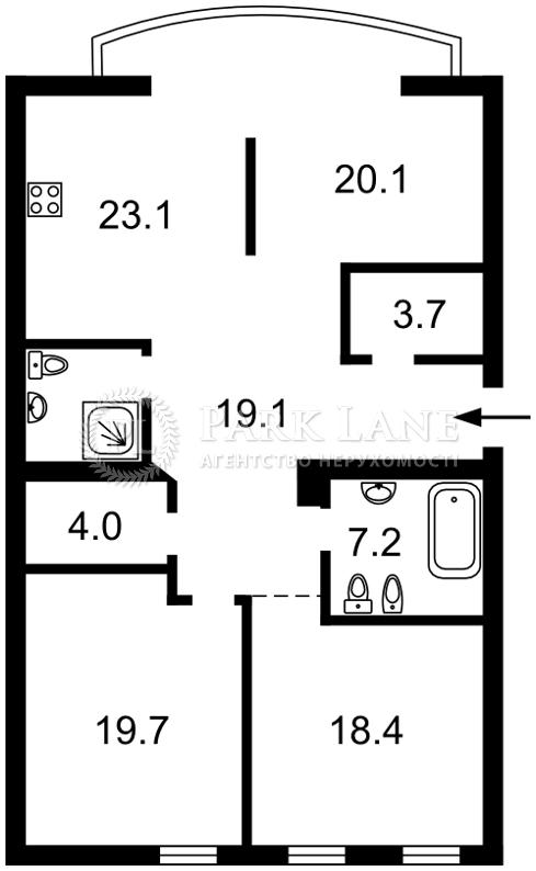 Квартира вул. Боричів Тік, 30, Київ, B-63122 - Фото 2