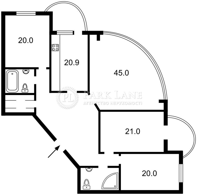 Квартира ул. Старонаводницкая, 13а, Киев, J-11086 - Фото 2