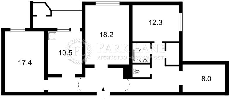 Квартира ул. Тимошенко Маршала, 18, Киев, Z-1793109 - Фото 2