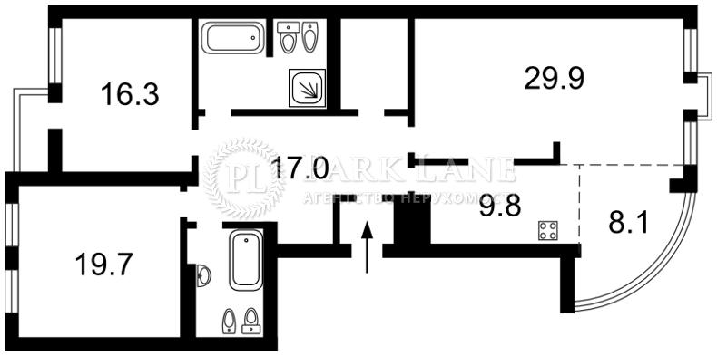 Квартира ул. Панаса Мирного, 15, Киев, P-1403 - Фото 2