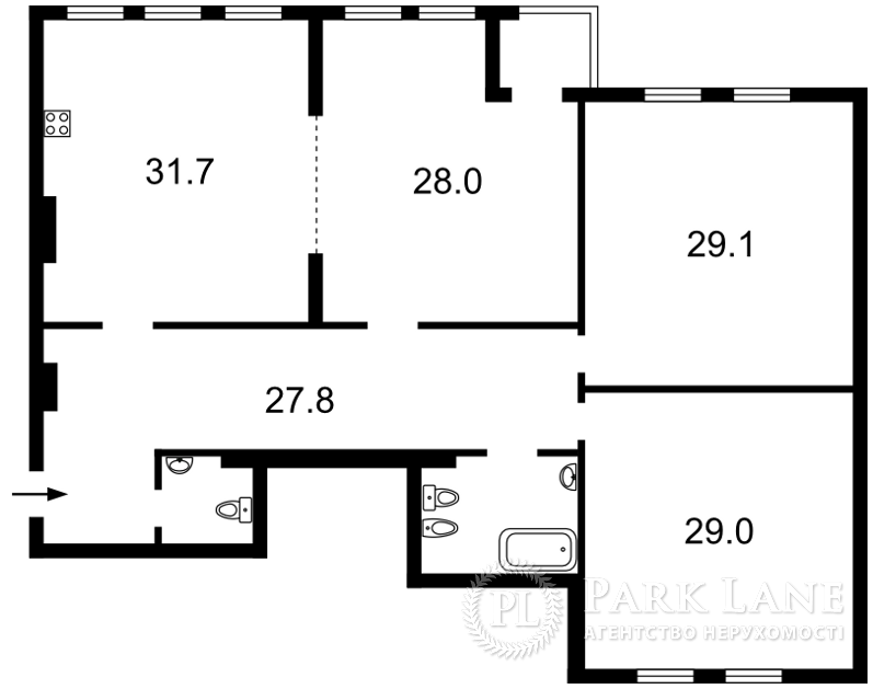 Квартира ул. Ольгинская, 6, Киев, B-89656 - Фото 2