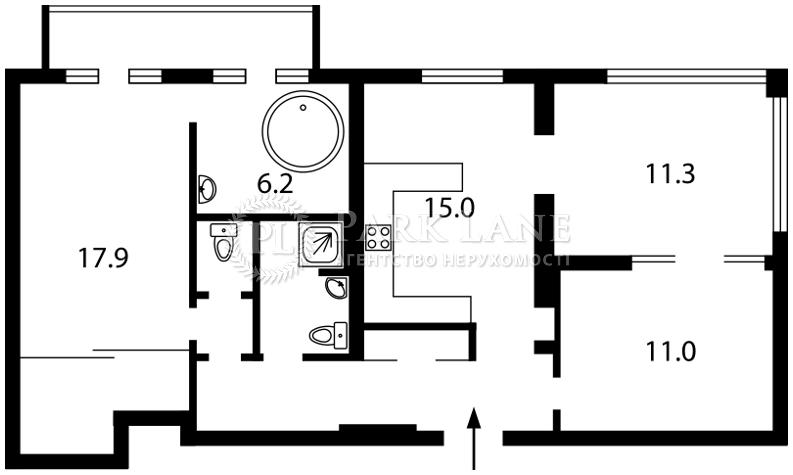 Квартира ул. Большая Васильковская, 48, Киев, B-89563 - Фото 2