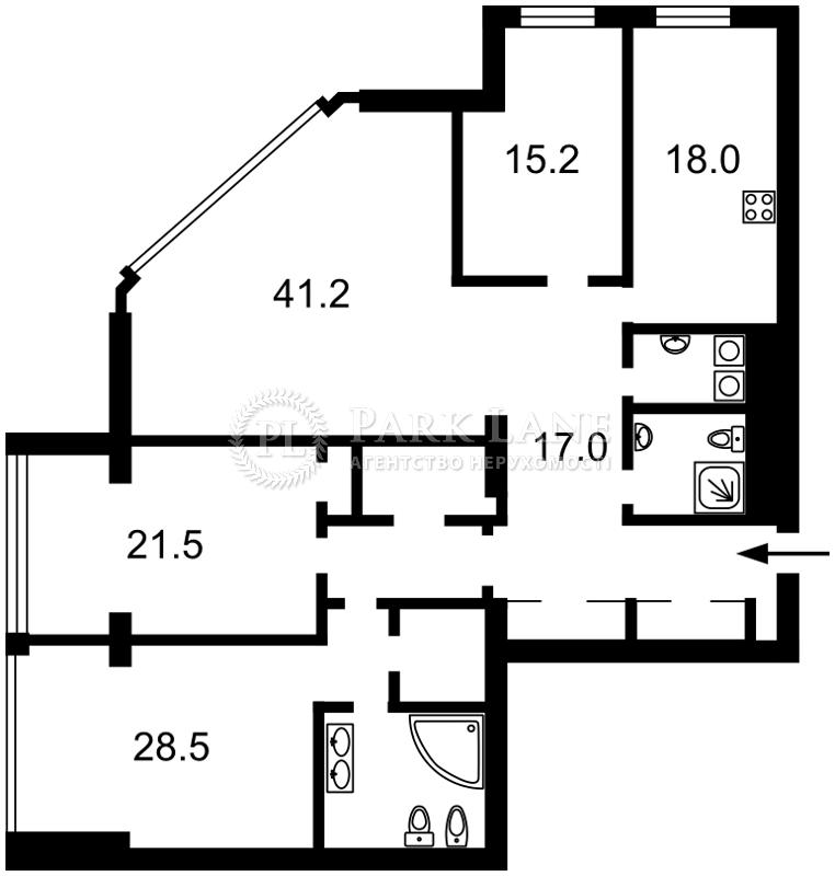 Квартира ул. Большая Васильковская, 72, Киев, M-16763 - Фото 2