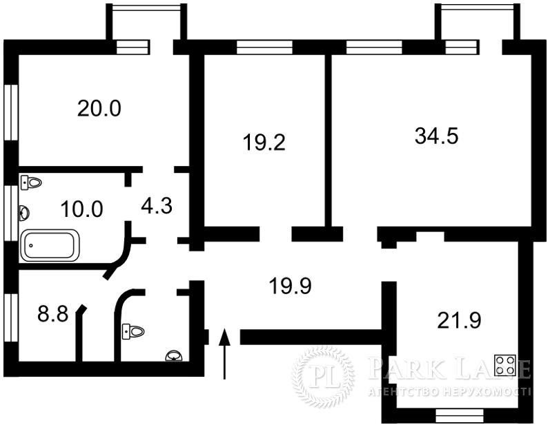 Квартира вул. Коновальця Євгена (Щорса), 29, Київ, X-12259 - Фото 2