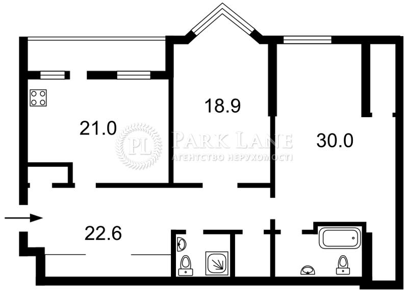 Квартира вул. Коновальця Євгена (Щорса), 32г, Київ, B-89876 - Фото 2