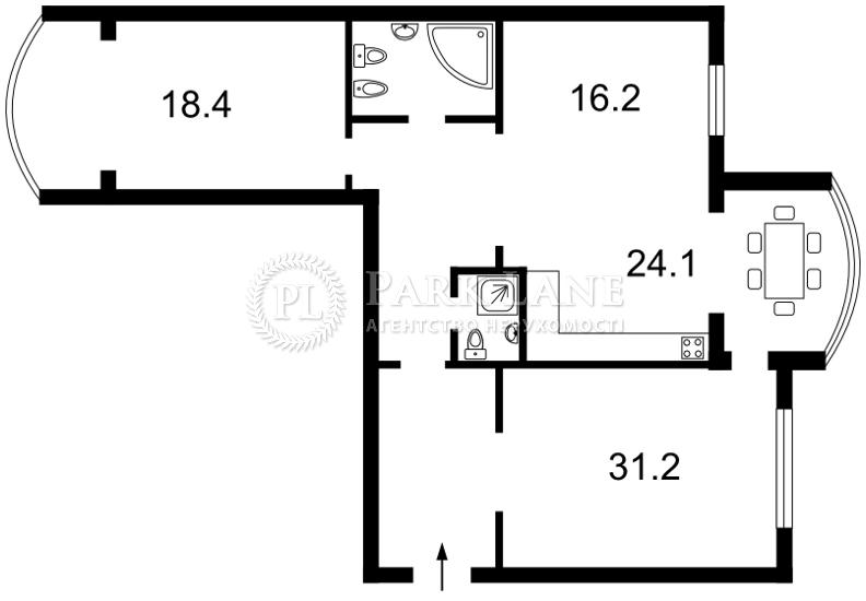 Квартира Героев Сталинграда просп., 8 корпус 5, Киев, X-11494 - Фото 2