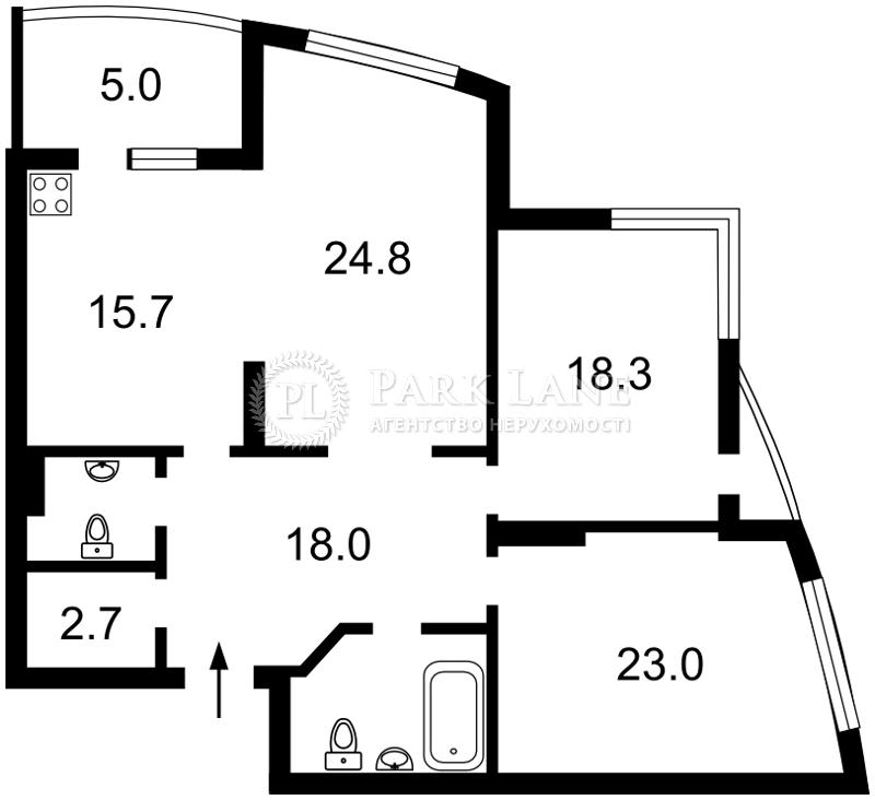 Квартира ул. Ушакова Николая, 1б, Киев, R-23173 - Фото 2
