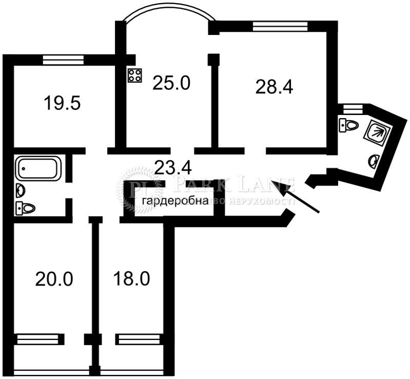 Квартира Героев Сталинграда просп., 10а, Киев, X-9239 - Фото 2