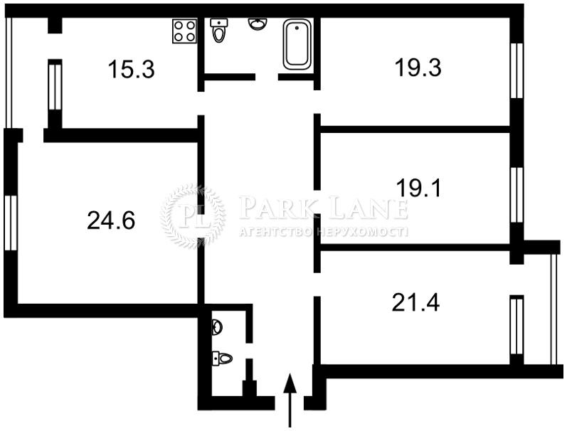 Квартира ул. Тимошенко Маршала, 21 корпус 7, Киев, Z-1032055 - Фото 2