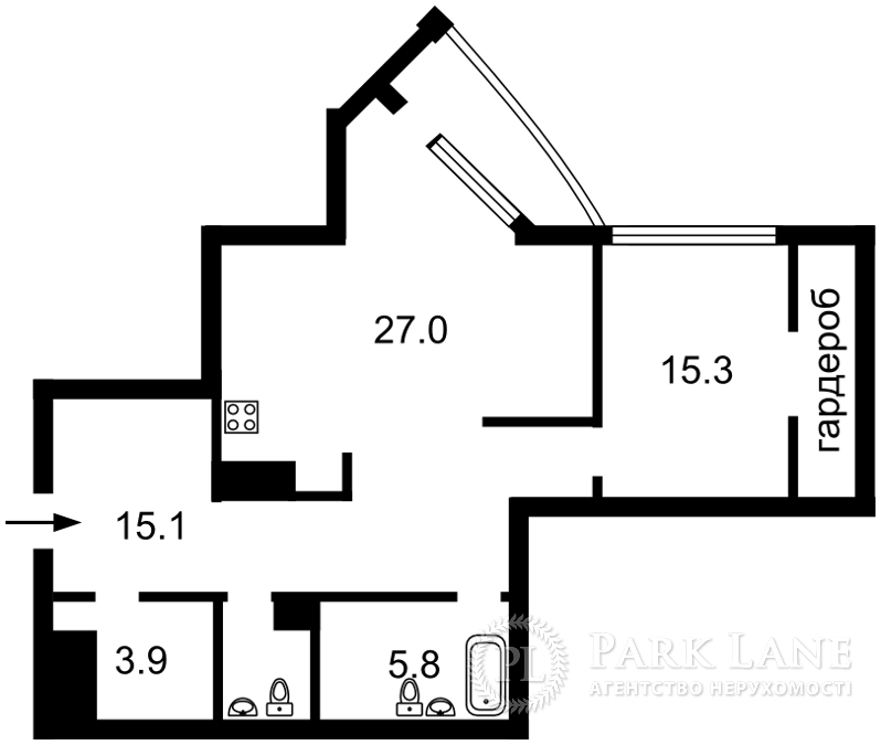 Квартира ул. Глубочицкая, 32б, Киев, B-90623 - Фото 2
