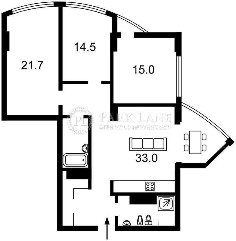 Квартира ул. Глубочицкая, 32в, Киев, B-90525 - Фото 2
