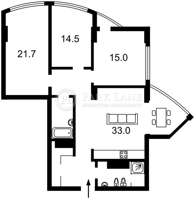 Квартира ул. Глубочицкая, 32в, Киев, B-90521 - Фото 2
