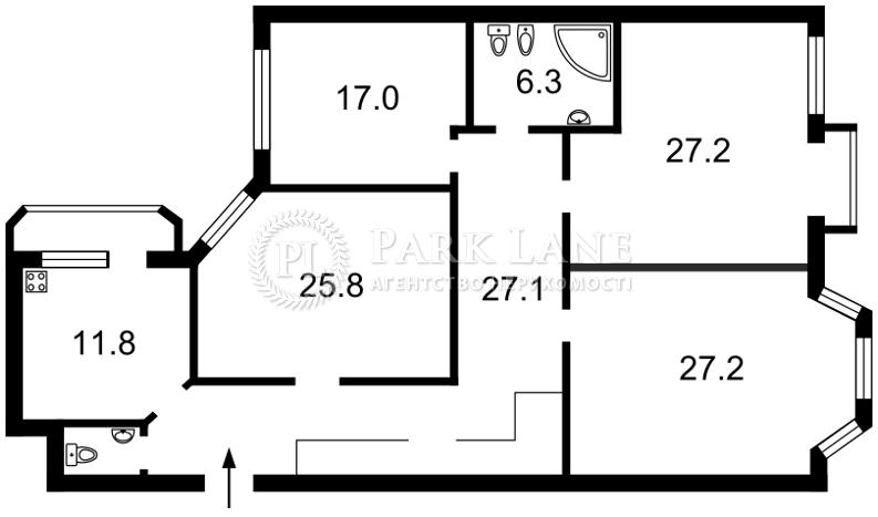 Квартира ул. Почайнинская, 25/49, Киев, X-23416 - Фото 2