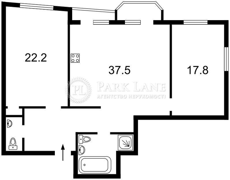 Квартира ул. Львовская, 22а, Киев, C-90891 - Фото 2