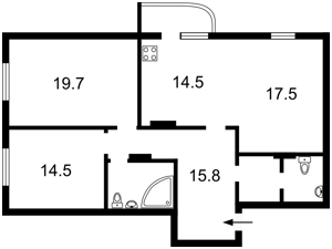 Квартира I-17935, Руданского Степана, 4-6, Киев - Фото 14
