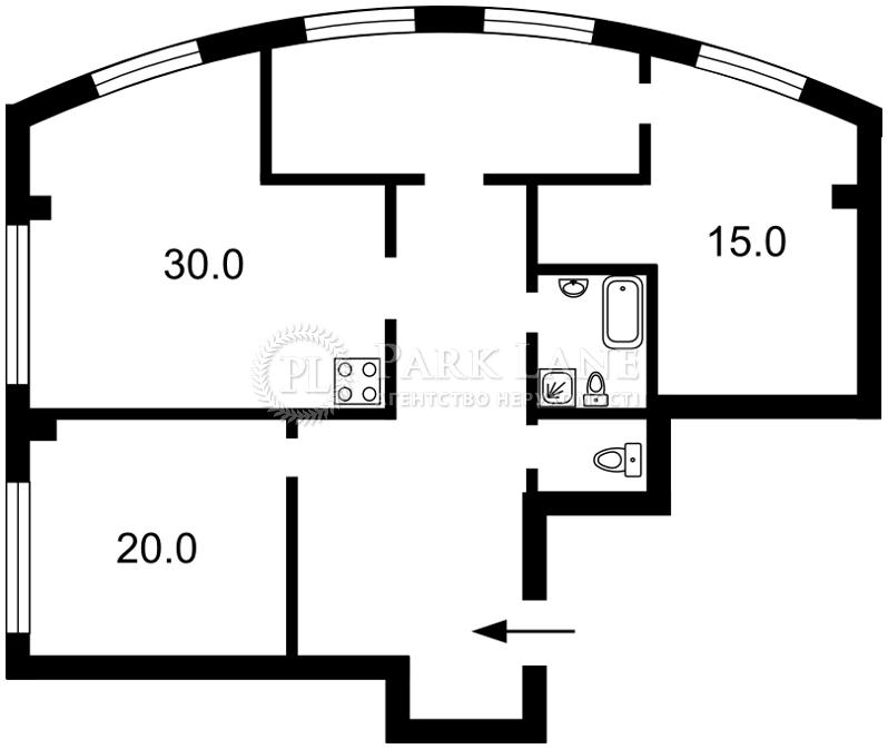 Квартира ул. Антоновича (Горького), 72, Киев, Z-1639446 - Фото 2