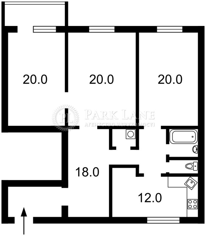 Квартира ул. Борщаговская, 189, Киев, B-91206 - Фото 2
