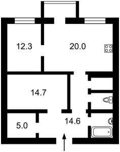 Квартира Z-1593540, Лобановского, 9, Чайки - Фото 2